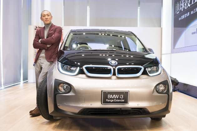 BMW i3と市川海老蔵さん