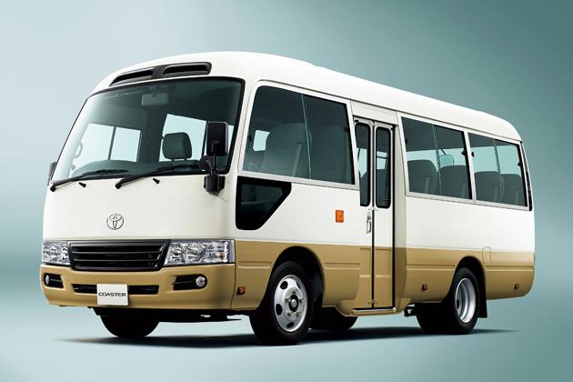 トヨタ コースター LX(標準ボディ・ハイルーフ・26人乗り・6AT・ディーゼル車)(ホワイト/ベージュ)<オプション装着車>