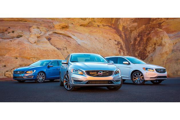 左から)Volvo V60、S60、XC60(写真は米国仕様車)