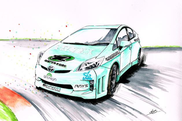 電気自動車(EV)によるドリフトが「東京オートサロン2015」で世界初走行!