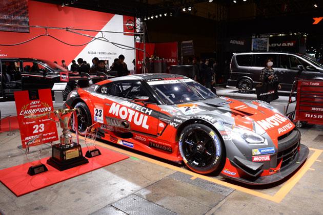 【速報!】日産ブースには、2014スーパーGTチャンピオンマシンのGT-Rが堂々展示中!【東京オートサロン2015】