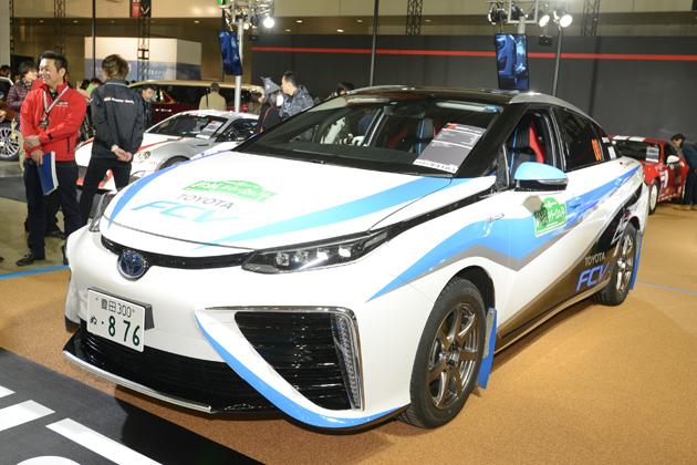 【速報!】トヨタ「MIRAI(ミライ)」のラリーカー登場!【東京オートサロン2015】