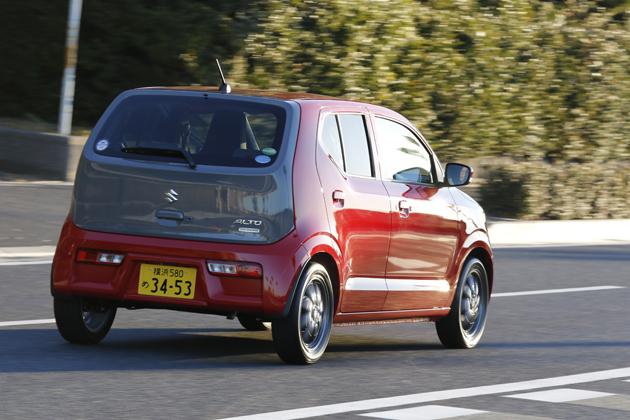 スズキ 新型 アルト「X」(2WD/ボディカラー:ピュアレッド/ミディアムグレー2トーンバックドア仕様車)