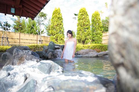 宇都宮市の北端にそびえる羽黒山を眺望しながら温泉を満喫