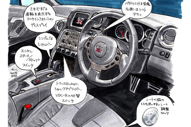 日産 GT-R 2015モデル イラスト試乗レポート/遠藤イヅル