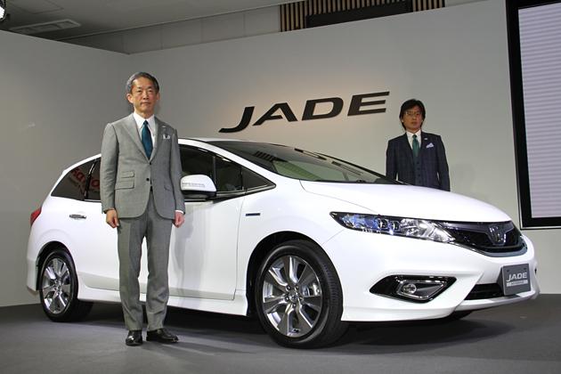 """ハイブリッド専用""""都市型3列""""ミニバン!「ホンダ ジェイド」発表会速報"""
