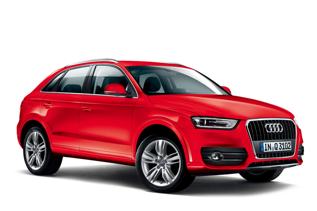 Audi Q3 color selection – Misano Red