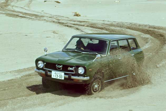1972レオーネ4WDエステートバン(走り)