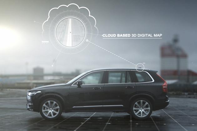 【ボルボ】 自動運転テクノロジー 3Dデジタルマップ