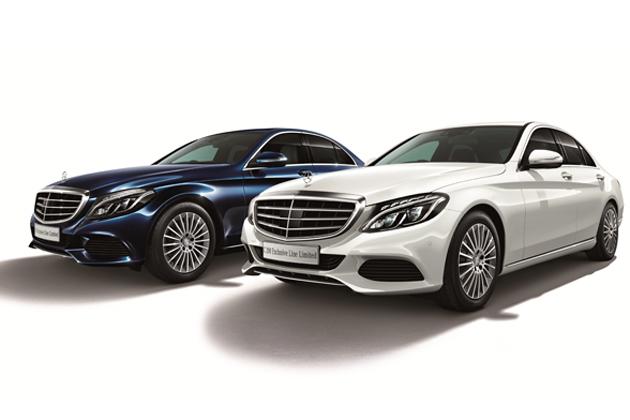 左:C 200 Exclusive Line Limited(本革仕様) 右:C 200 Exclusive Line Limited