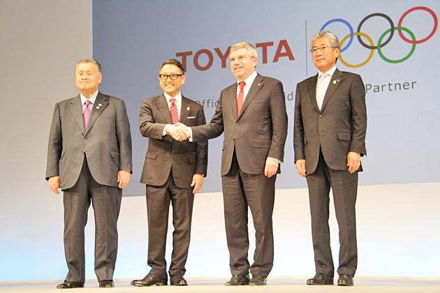 トヨタ自動車、IOC TOPパートナーに決定