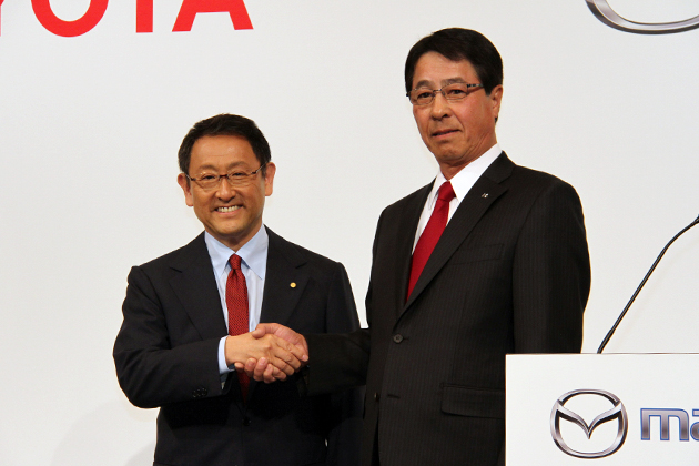 トヨタ自動車株式会社 豊田章男社長とマツダ株式会社 小飼雅道社長 合同記者会見