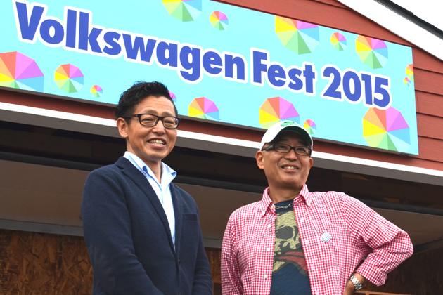 (左)フォルクスワーゲン グループ ジャパン株式会社 代表取締役社長 庄司茂氏/(右)ピストン西沢氏