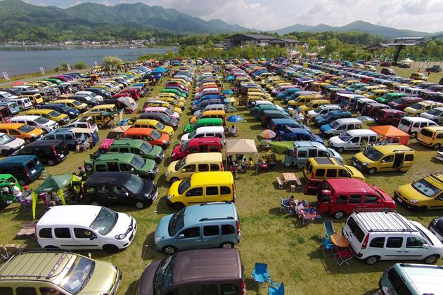 山中湖畔にルノー カングーが1000台以上集結! 過去最高の規模で盛り上がった「KANGOO Jamboree(カングージャンボリー) 2015」