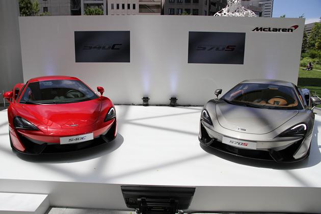 最安のエントリーモデルでも「2,188万円」、マクラーレン「540C」「570S」日本初披露