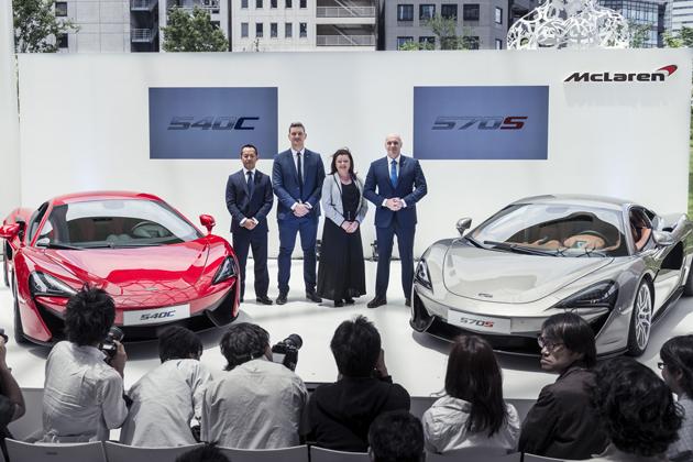 「McLaren 570S Coupe」 および「McLaren 540C Coupe」日本初公開  発表会の模様