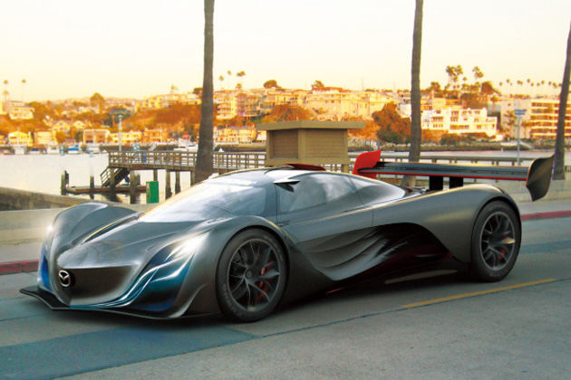 2008年に披露された3ロータリー搭載のコンセプトモデル「マツダ風籟(ふうらい)/MazdaFURAI」