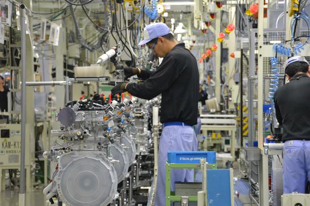 レクサスNXに搭載するターボエンジンを生産するトヨタ九州苅田工場