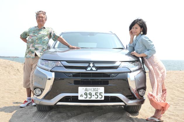 国沢光宏氏と柏木美里さんが三菱 アウトランダーPHEVでアウトドアを楽しむ!