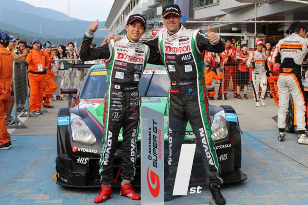 佐々木大樹選手とミハエル・クルム選手/2015 SUPER GT Rd.4 FUJI