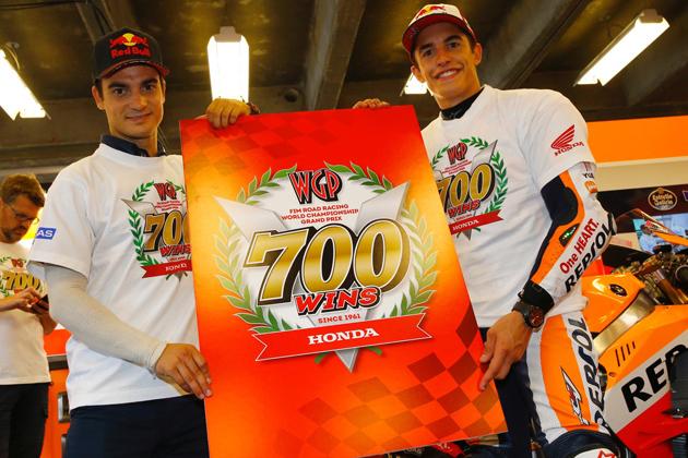 ホンダがFIMロードレース世界選手権シリーズで通算700勝を達成