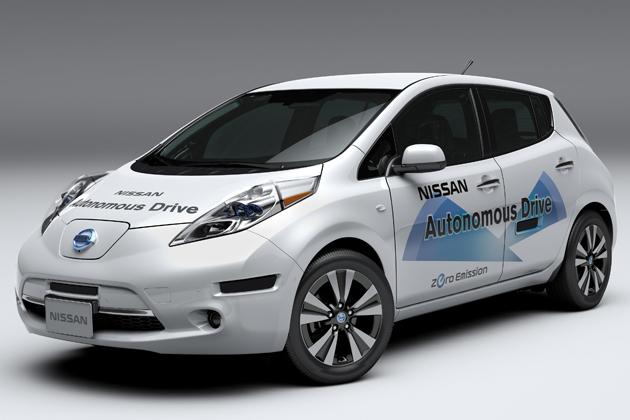 日産の自動運転テスト車両(ベース車:リーフ) 日産はNASAとの共同開発でさらに自動運転技術を加