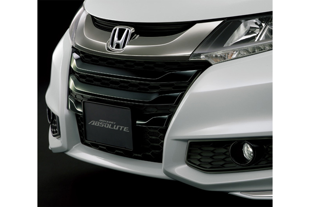 ODYSSEY ABSOLUTE・Advance ベルリナ・ブラック大開口 フロントグリル&フォグライトリング