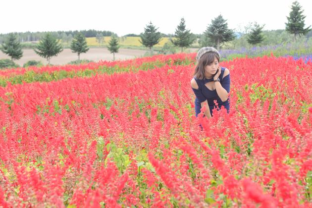 花畑を探索するやっさん 安枝瞳×ホンダS660 in 北海道