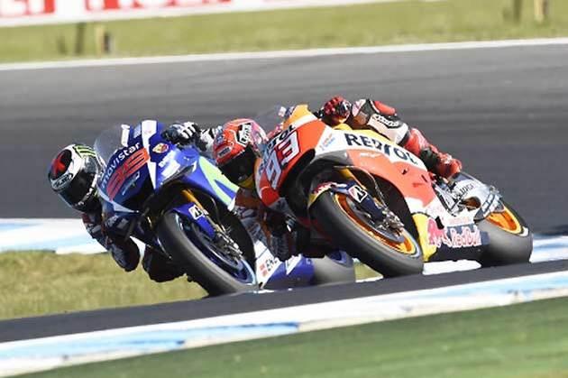 ホルヘ・ロレンソ選手とマルク・マルケス選手/MotoGP第16戦オーストラリアGP(決勝)