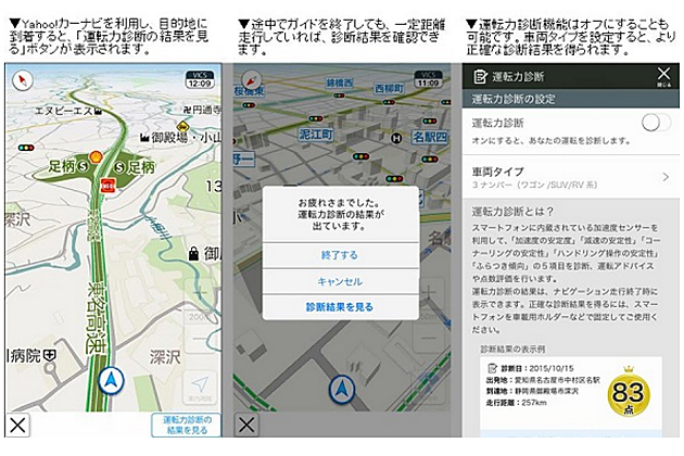 安全運転診断アプリ「スマ保『運転力』診断」