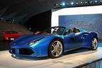 フェラーリ、最新のオープントップ V8 スポーツカー『488 スパイダー』を日本初公開