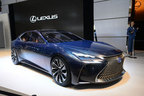 """レクサスのフラッグシップカー「LS」次期型は""""燃料電池""""搭載か【TMS2015】"""