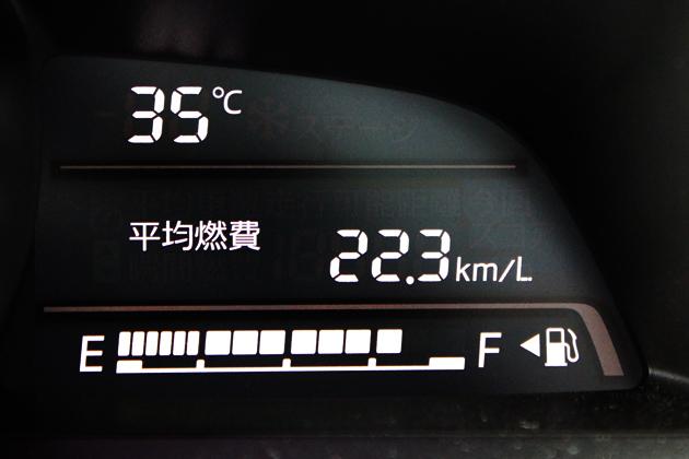 マツダ デミオ 13S(1.3リッター/5MT)/高速道路燃費