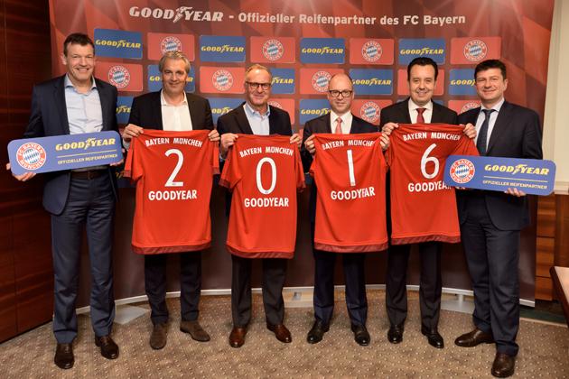 グッドイヤー、独・ブンデスリーガの「バイエルンミュンヘン」とプラチナパートナー契約を締結