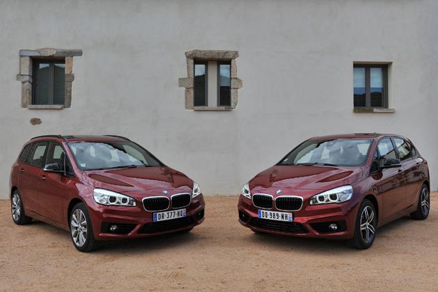 BMW 218d Gran Tourer and 214d Active Tourer