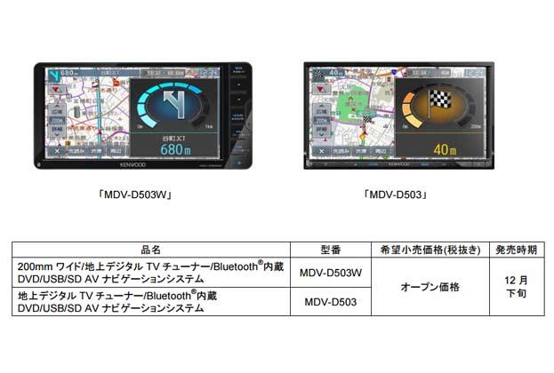 彩速ナビゲーション「MDV-D503W」「MDV-D503」