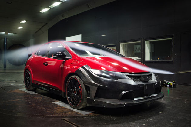 MUGEN CIVIC TYPE R Wind Tunnel Test