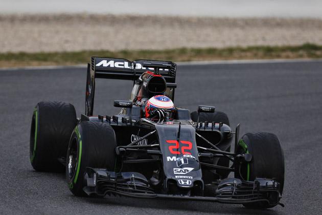 F1 2016 バルセロナテスト(ジェンソン・バトン)