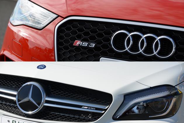 欧州激辛ハッチ対決!「アウディ RS3 スポーツバック」「メルセデスAMG A45 4MATIC」試乗レポート