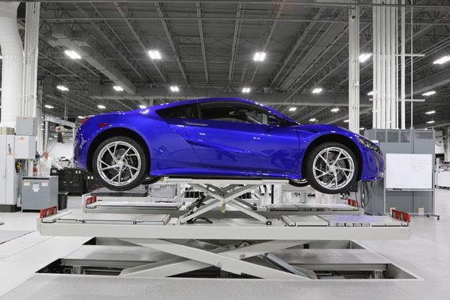 新型「NSX」生産工場/組立&完成