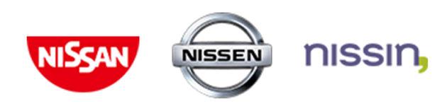 NISSAN、NISSIN、NISSENのロゴを入れ替える凝りよう…