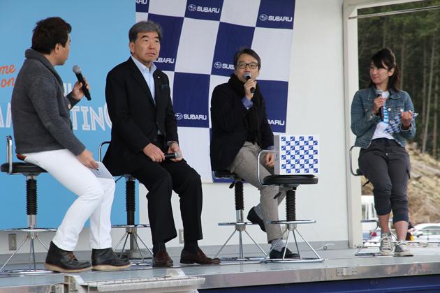 テレビ神奈川の「岡崎五朗のクルマでいこう!」の公開収録も行われていました