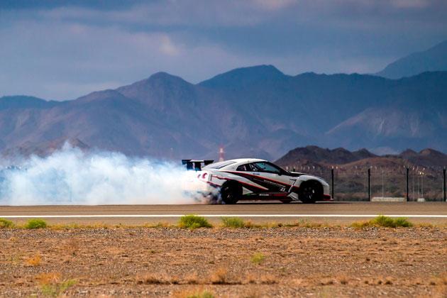 GT-R Drift world record breaking