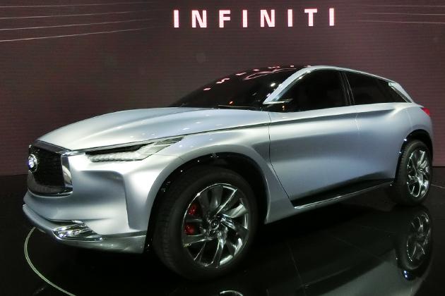 インフィニティ、「QXスポーツインスピレーション」を中核に数車種の新型クロスオーバー量産化へ