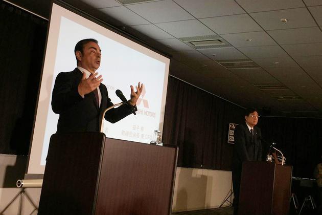 日産・三菱 合同記者会見にて