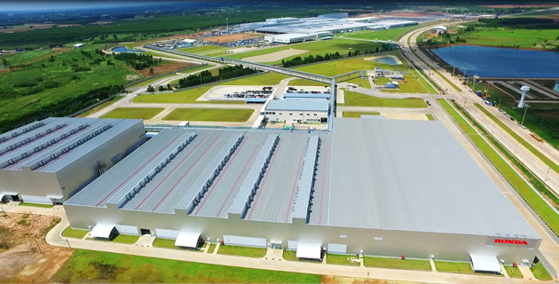 プラチンブリ工場 航空写真