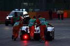 レース中盤にリタイアするTOYOTA GAZOO RacingのTS050 HYBRID
