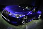 """まるで「コンセプトカーそのもの」世界初""""マルチステージハイブリッド""""や""""10速AT""""搭載「レクサス LC」日本初披露"""