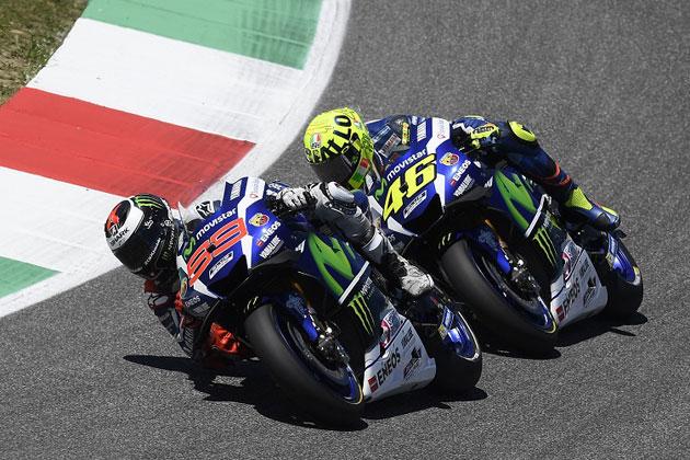 #99 ホルヘ・ロレンソと#46 バレンティーノ・ロッシ /MotoGP 第6戦 イタリアGP
