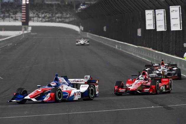 2016 インディカー・シリーズ 第5戦 インディアナポリス 決勝にて、佐藤琢磨選手の走り